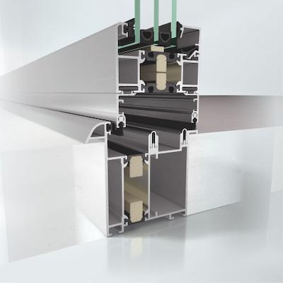 Aluminium Faltschiebetuer System ASS 80 FD.HI Profilansicht