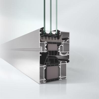 Aluminium Fenster System AWS 75.SI+ Profilansicht