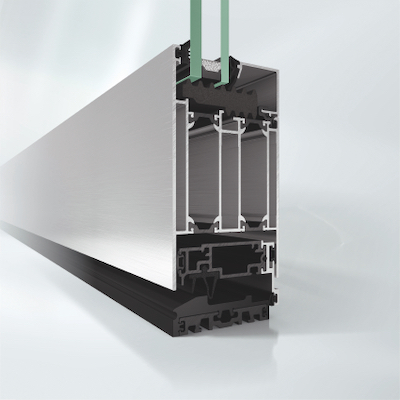 Aluminium Haustuer ADS 75 SimplySmart Profilansicht