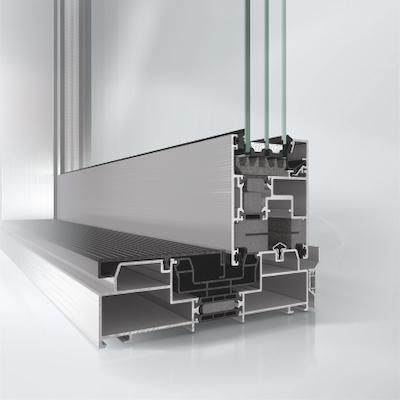 Aluminium Hebeschiebetuer ASS 70.HI Profilansicht