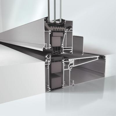 Aluminium Parallel Abstell Schiebe Kipptuer System PASK AWS 75.SI+ Profilansicht