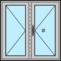 Aluminiumfenster Drehfenster Stulp guenstig online kaufen