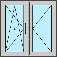 Aluminiumfenster Drehkippfenster Stulp guenstig online kaufen