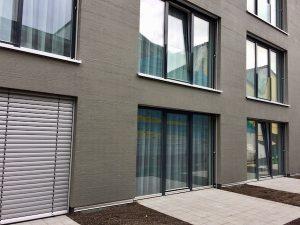Anthrazit ral 7016 Raffstore und Aluminium Fenster