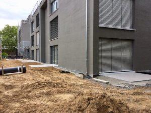 Schueco Anthrazit Aluminium Fenster und Raffstore